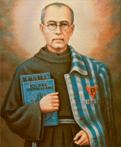 Maximilian Mary Kolbe, gave his life for another man in Auschwitz. Dean Esmay's Confirmation Saint.