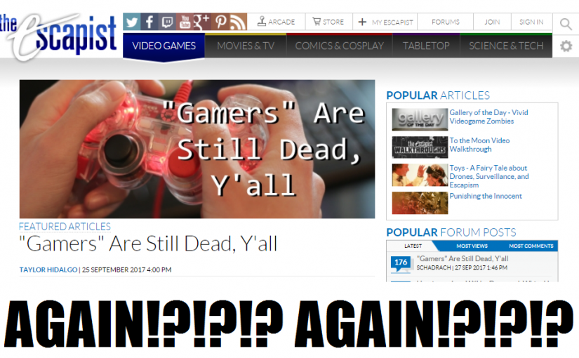 Breaking the Narrative Episode 61: And You Were Doing So Well! The Escapist Done Goofed!